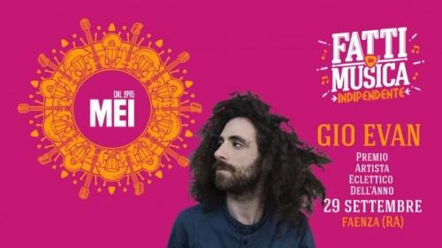 Gio Evan -Targa MEI - Artista Eclettico 2018